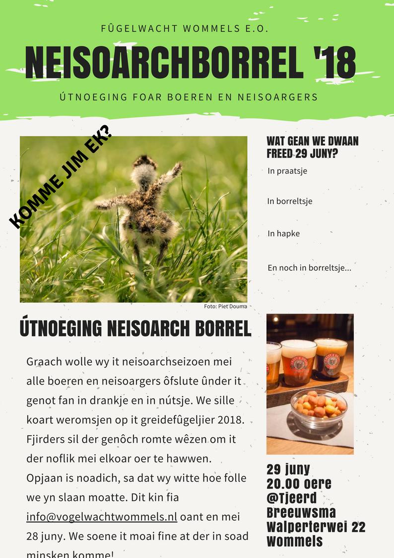 Utnoeging Neisoarchborrel Foar Boeren En Neisoargers