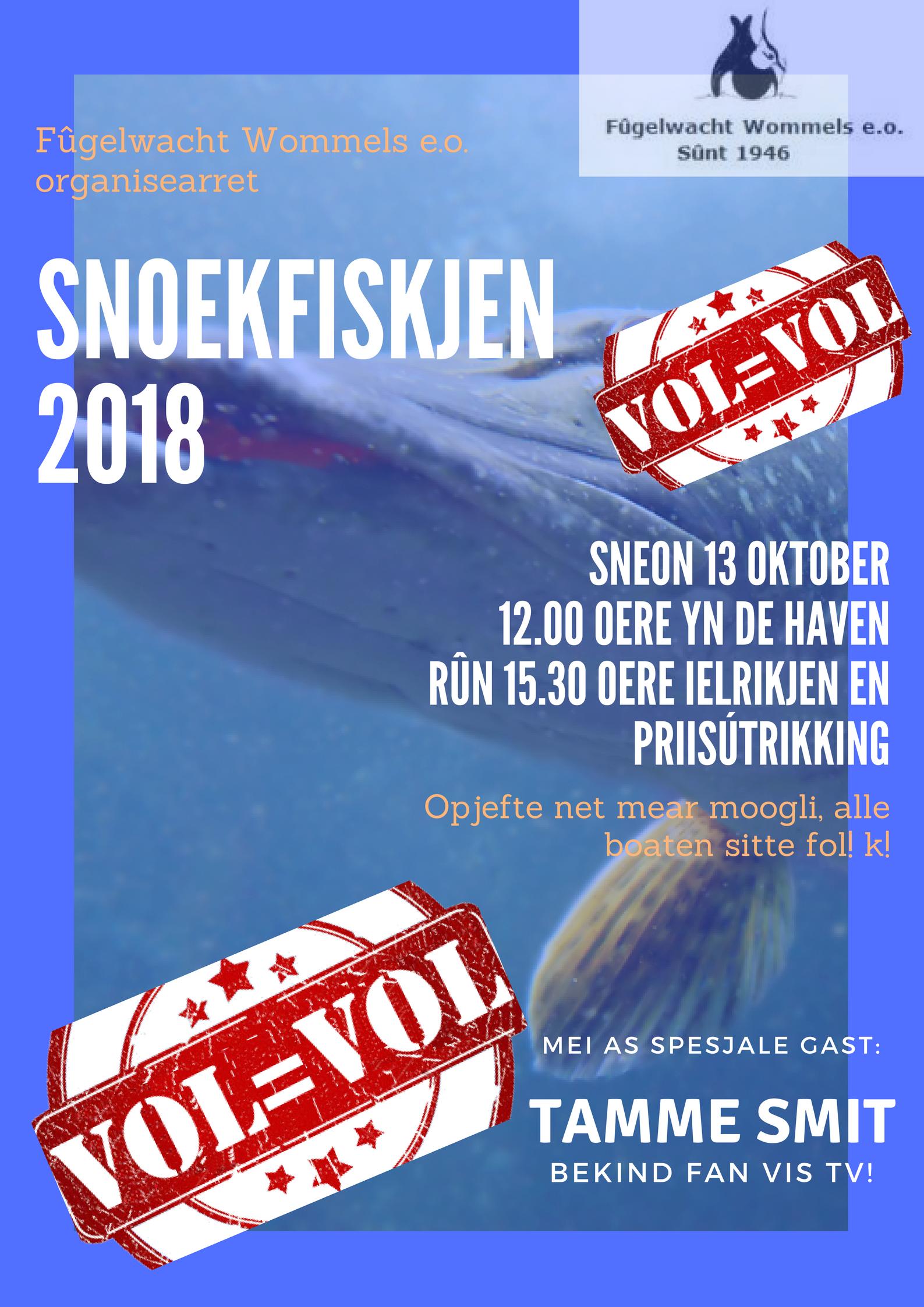 13 Oktober Snoekfiskjen (opjefte Net Mear Mooglik)