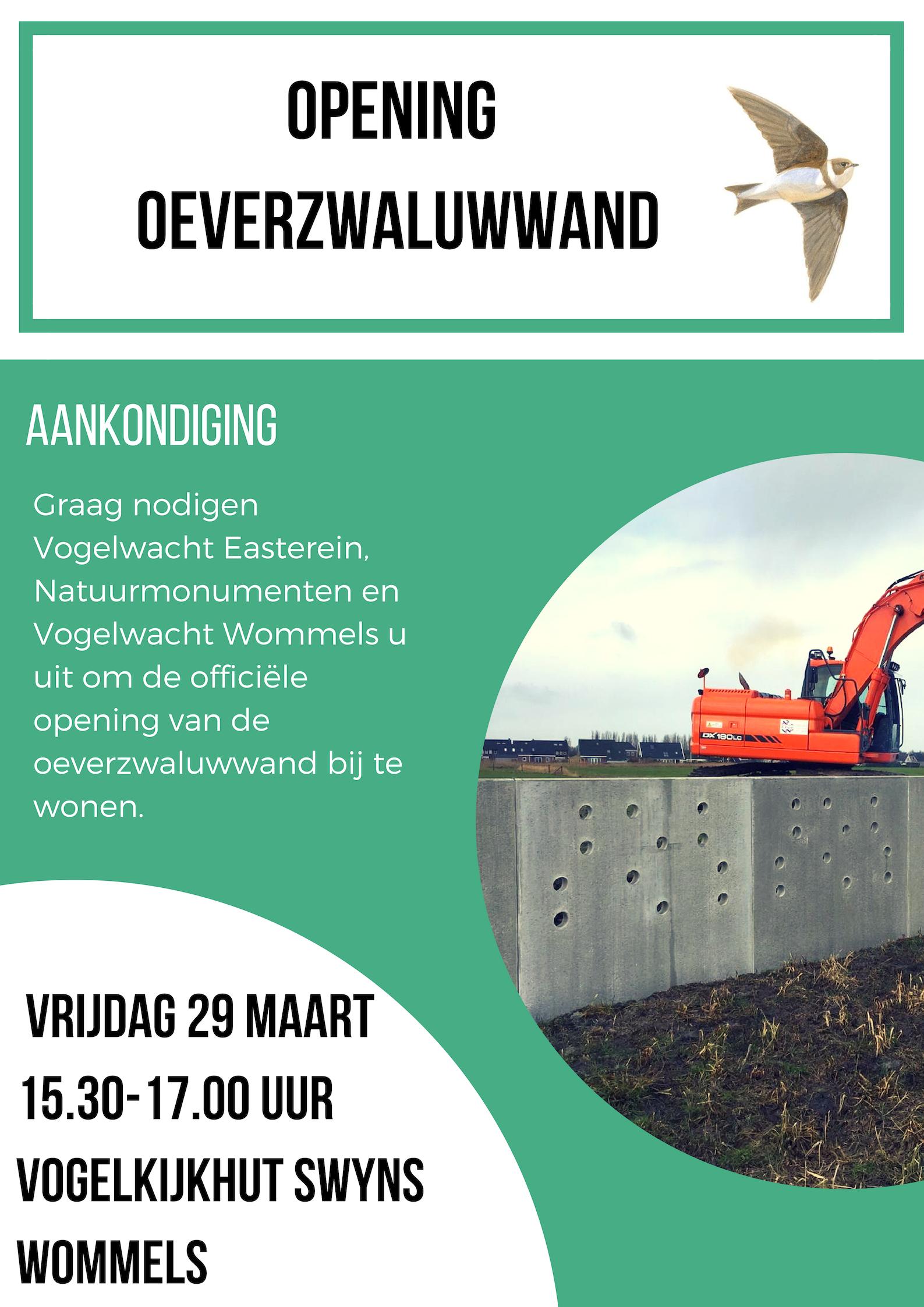 Opening Oeverzwaluwwand 29 Maart